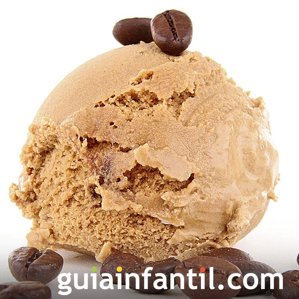Receta de helado de café para niños