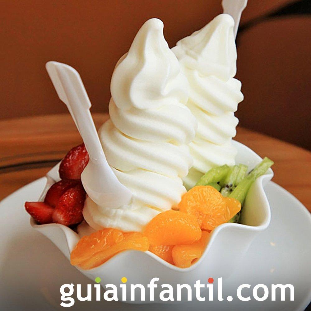 Receta de helado de yogur para niños