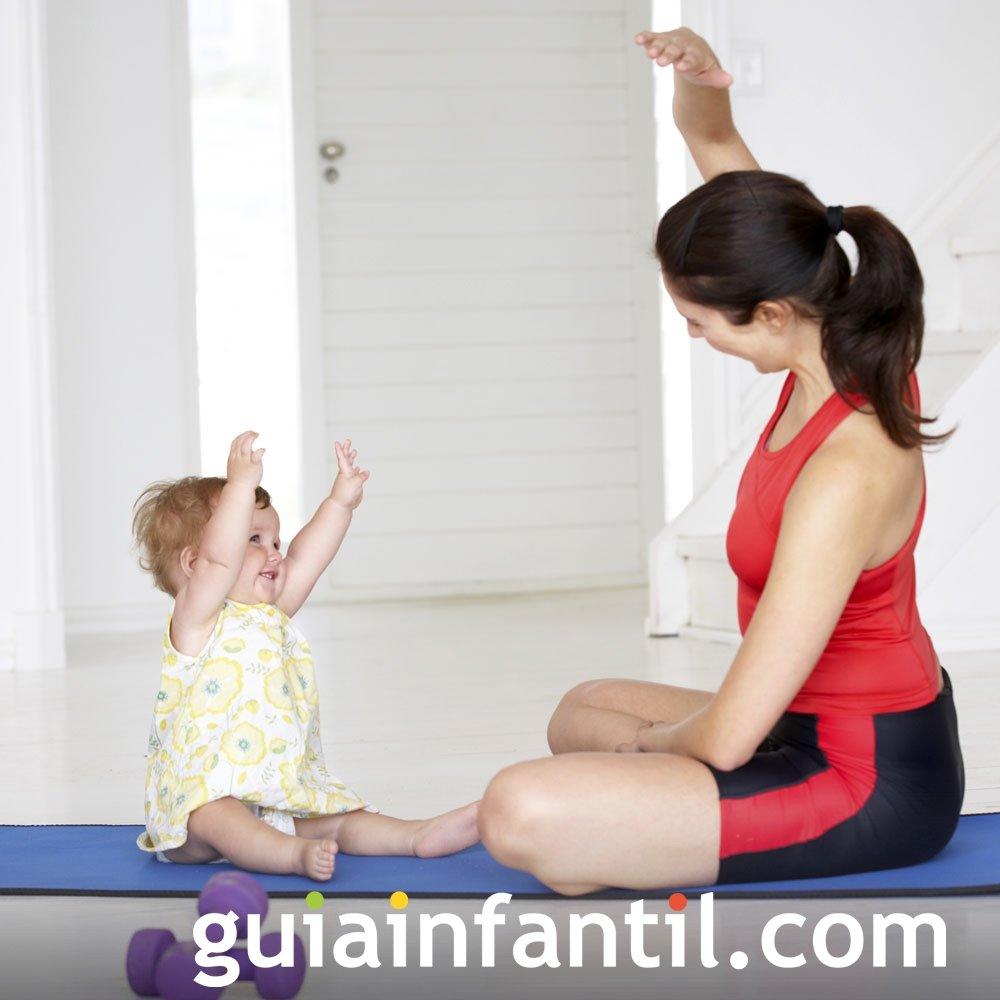 Levanta pesas con tu bebé. Ejercicios de posparto