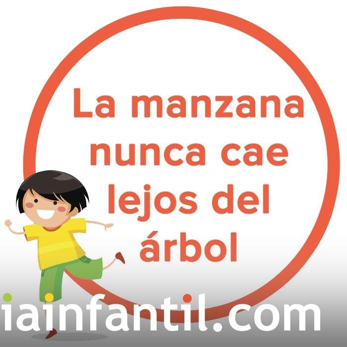 La Manzana Nunca Cae Lejos Del árbol Dicho Popular Chileno Para Niños