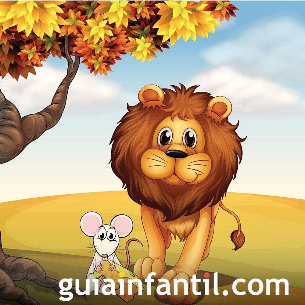El león y el ratón. Fábula sobre la valentía