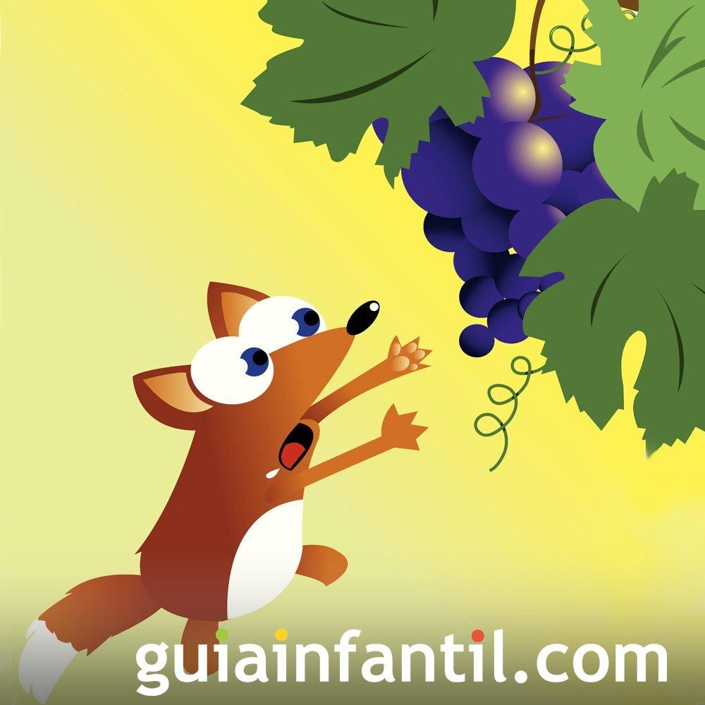 La zorra y las uvas. Fábula sobre la ambición
