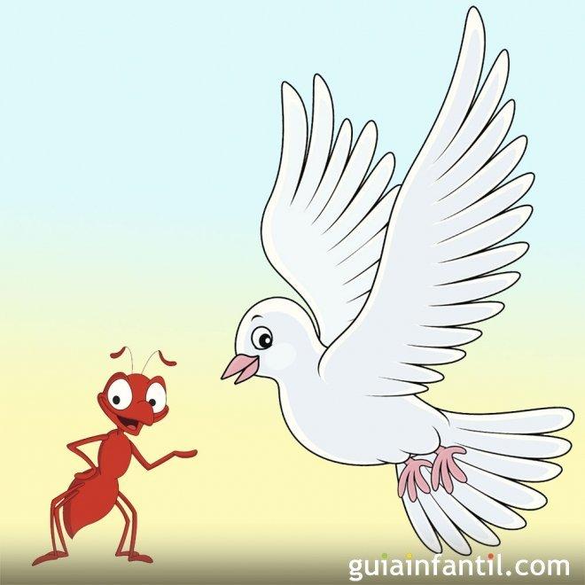 La paloma y la hormiga. Fábula sobre el respeto