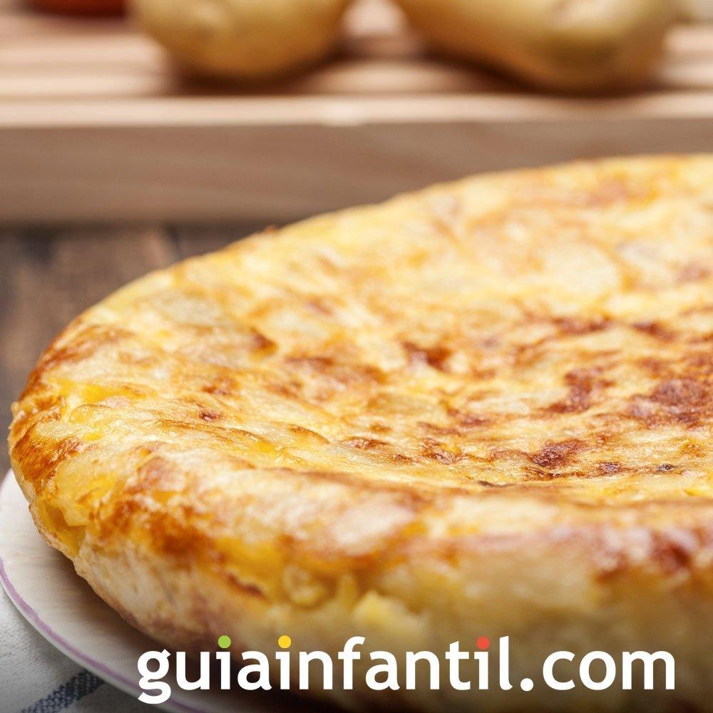 Receta de tortilla española de patatas para niños
