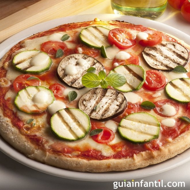 Receta de pizza para ni os plato tradicional italiano for Platos de pizza