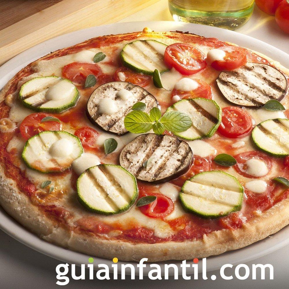 Receta de pizza para niños. Plato tradicional italiano