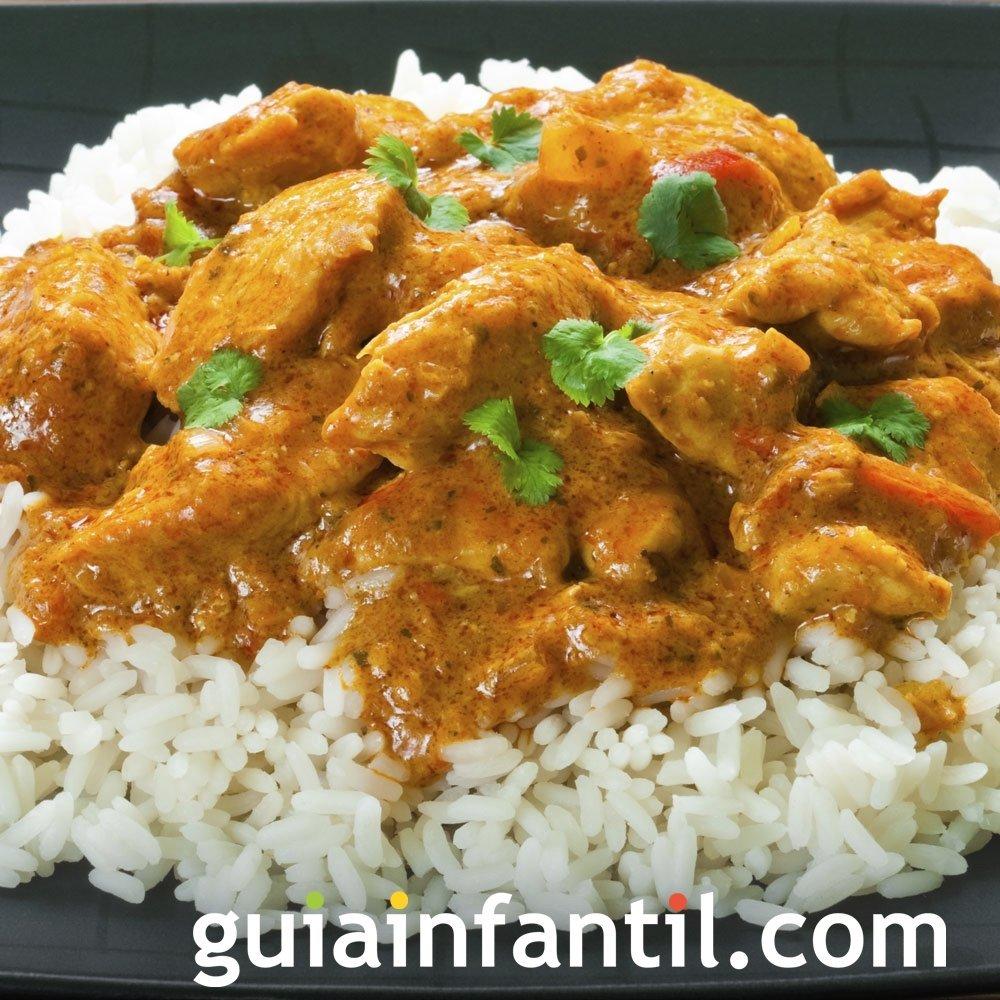 Receta de arroz hindú al curry para niños