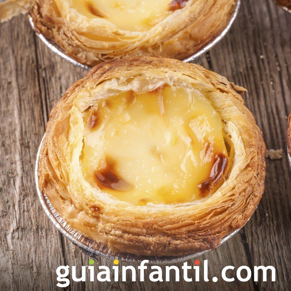 Receta de pasteles de Belem. Postre portugués para niños
