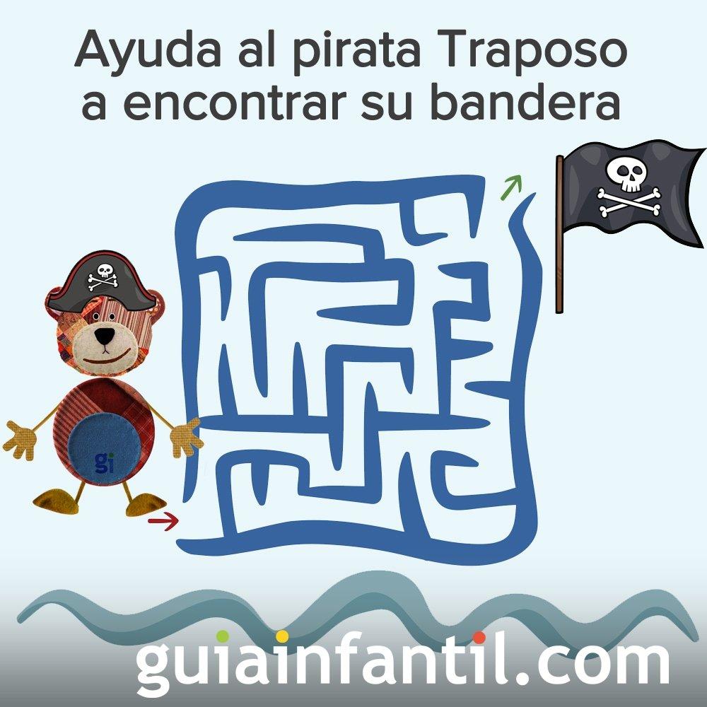 El pirata Traposo quiere encontrar su bandera