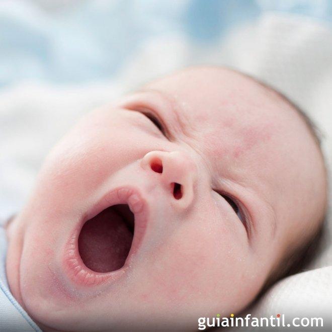 Expresión de sueño en los bebés