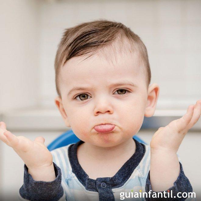 Los pucheros de enfado en los bebés