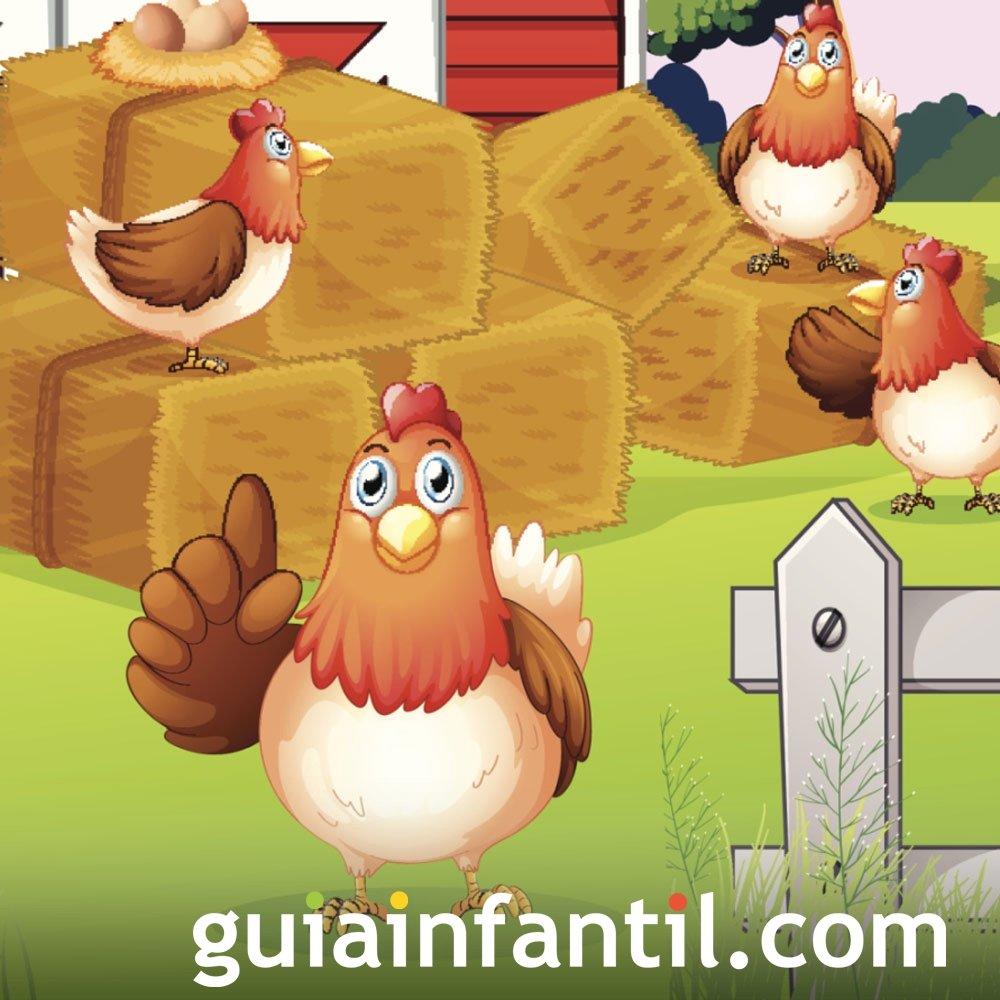 La gallinita roja. Cuento educativo en inglés