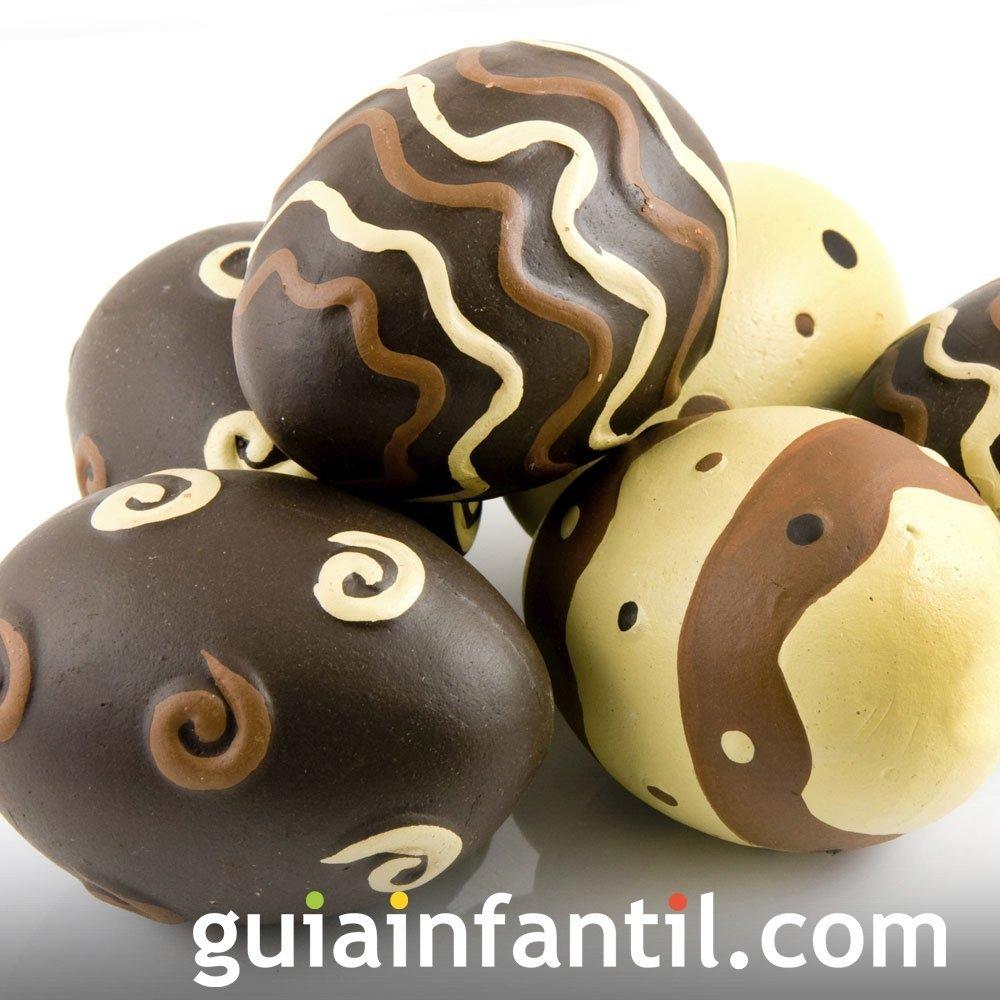Receta de huevos de chocolate para la Pascua