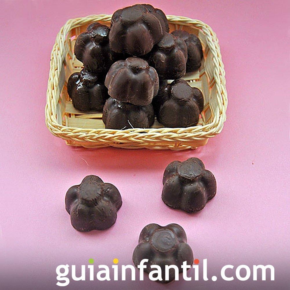 Receta de bombones y dulces de chocolate