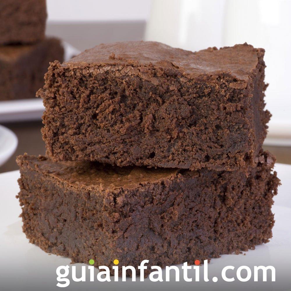 Receta de brownies clásicos de chocolate