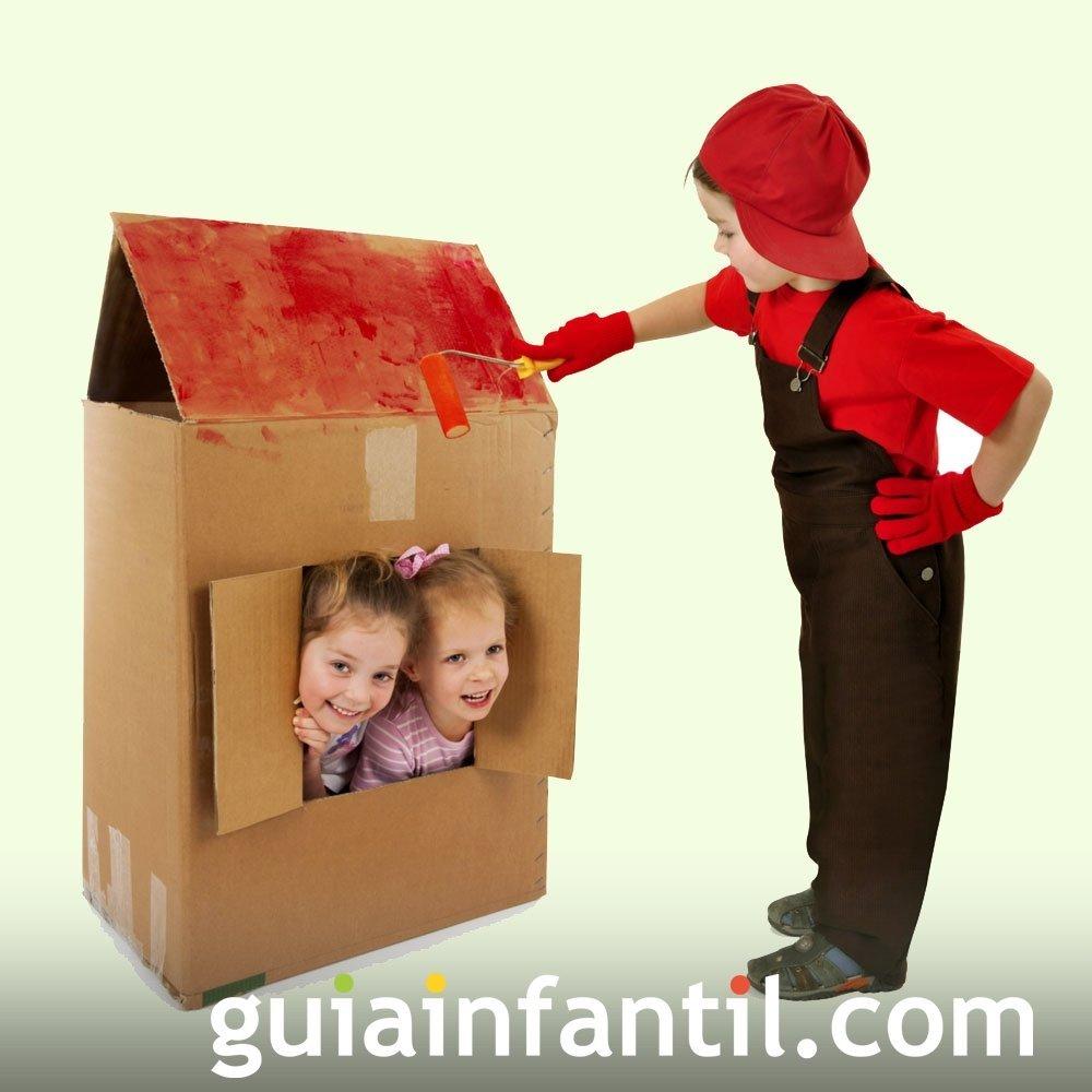 Juegos Para Niños Con Cajas De Cartón Recicladas