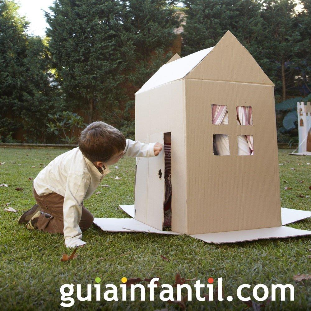 Casa de cartón creativa para niños