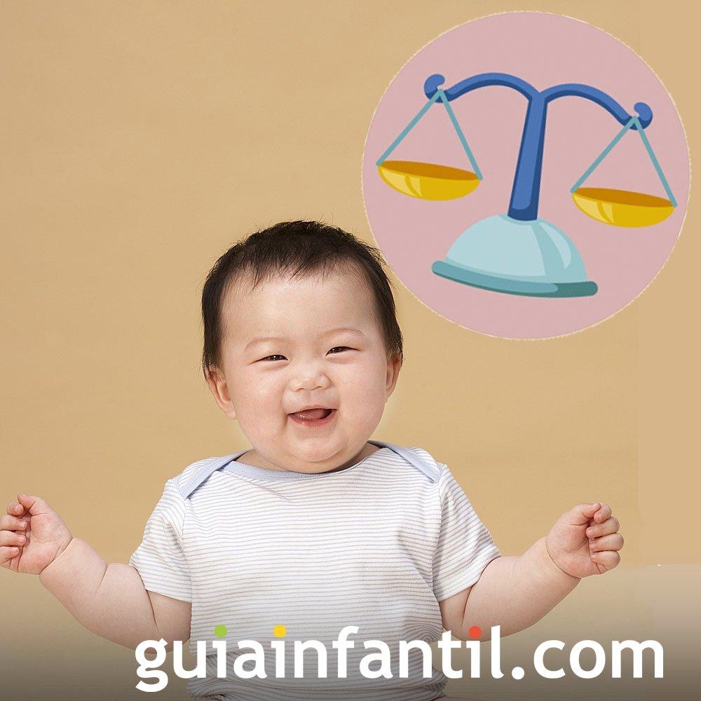 Perfil de un bebé del signo de Libra