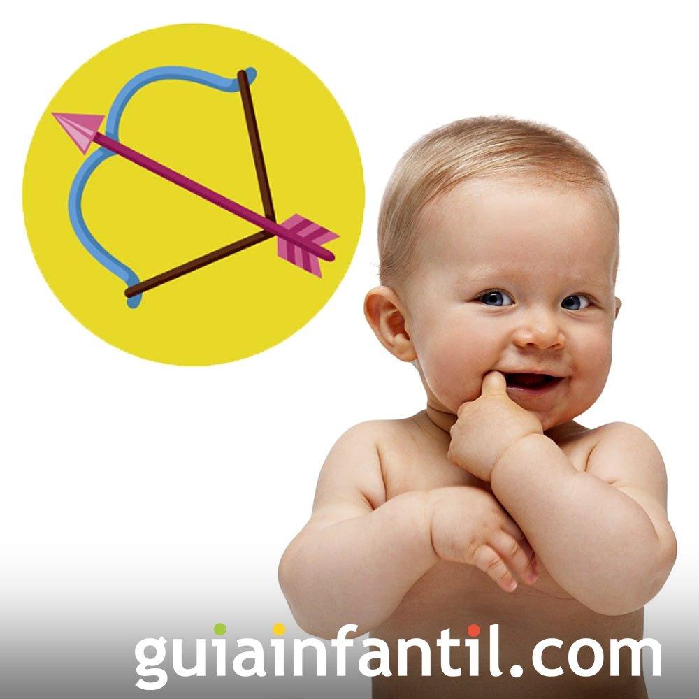 Perfil de un bebé del signo de Sagitario