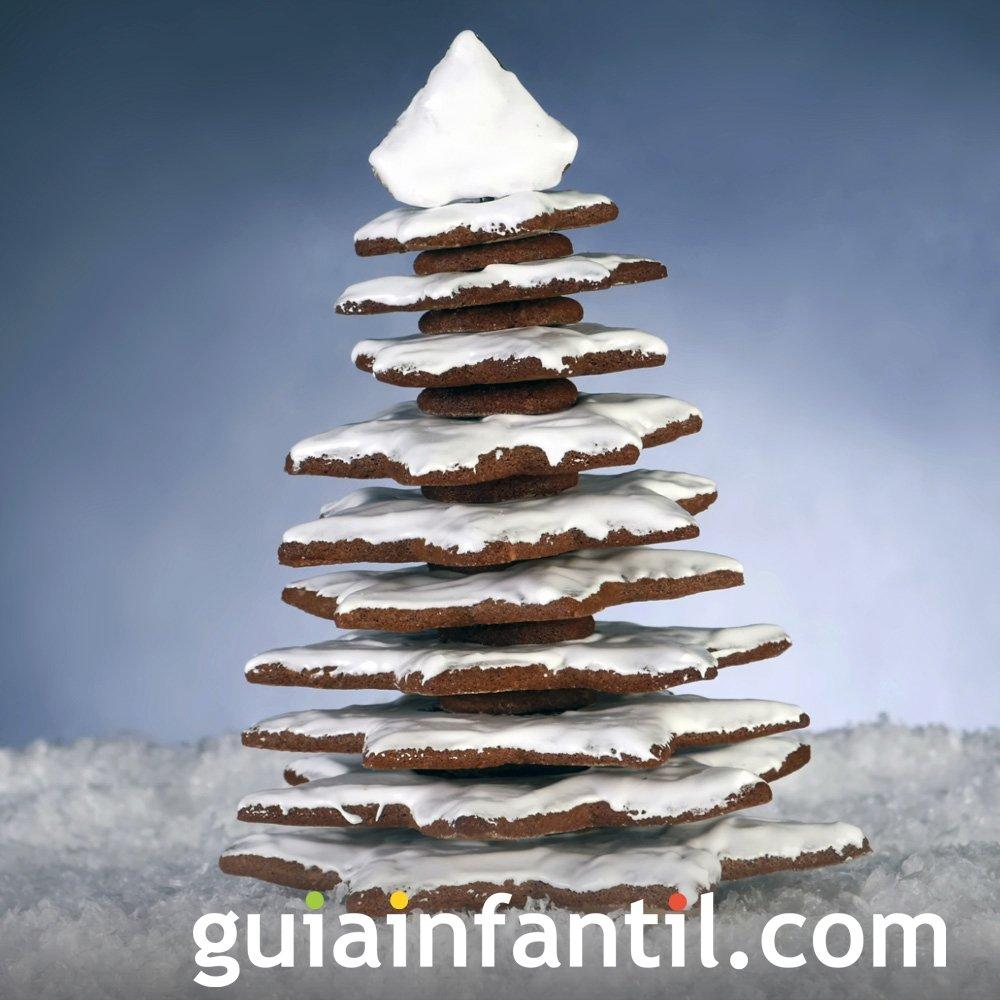 Árbol de Navidad con gallegas de jengibre para niños