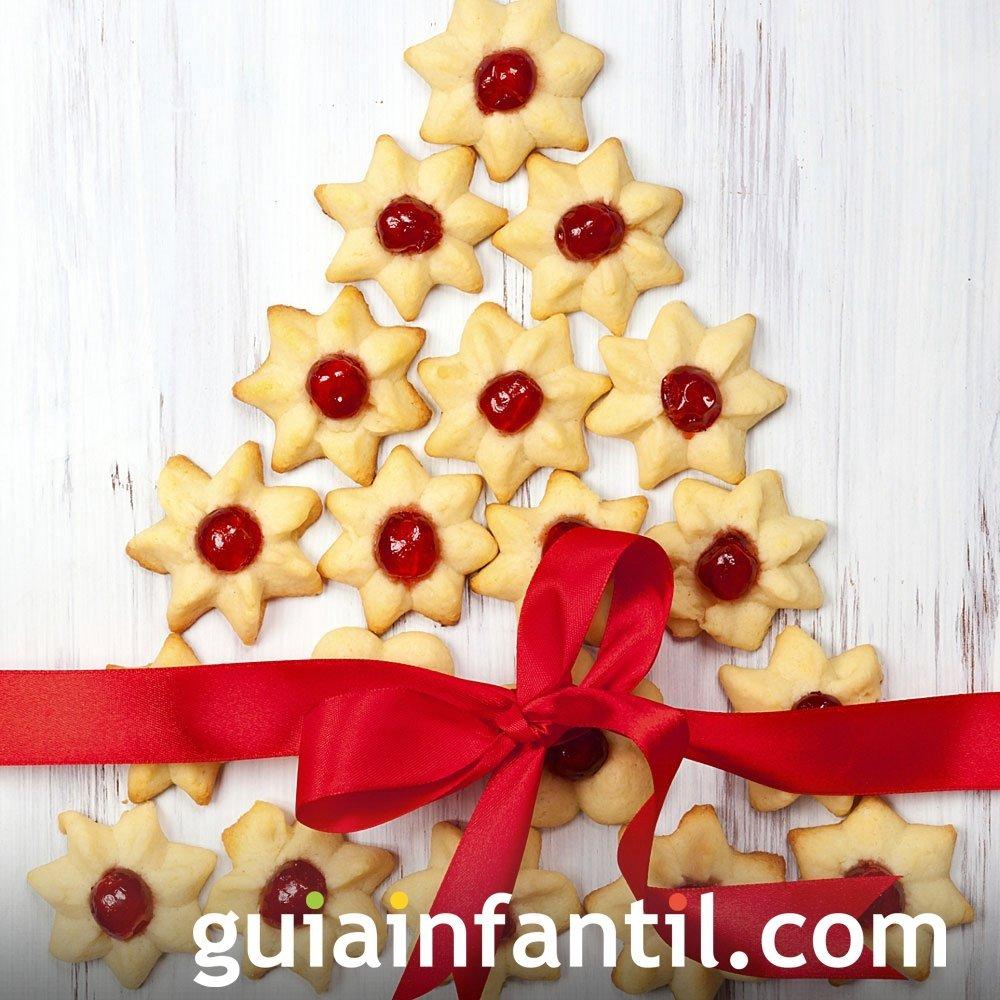 Árbol de Navidad con pastas de mantequilla