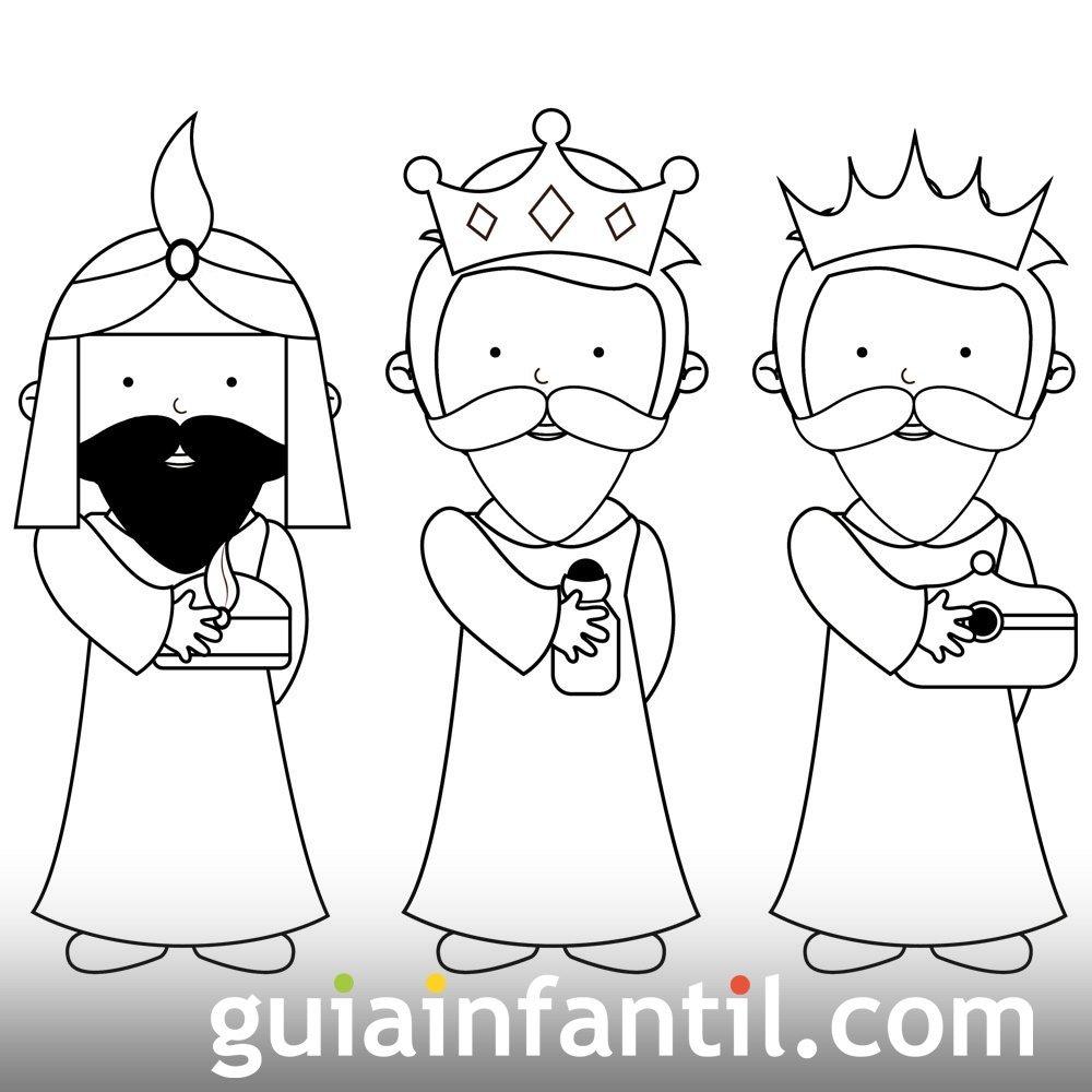 Dibujo Sencillo De Los Reyes Magos Para Pintar