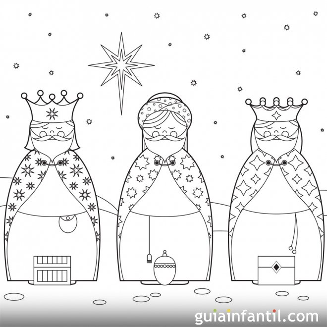 Dibujos De Los Reyes Magos Para Imprimir Y Pintar