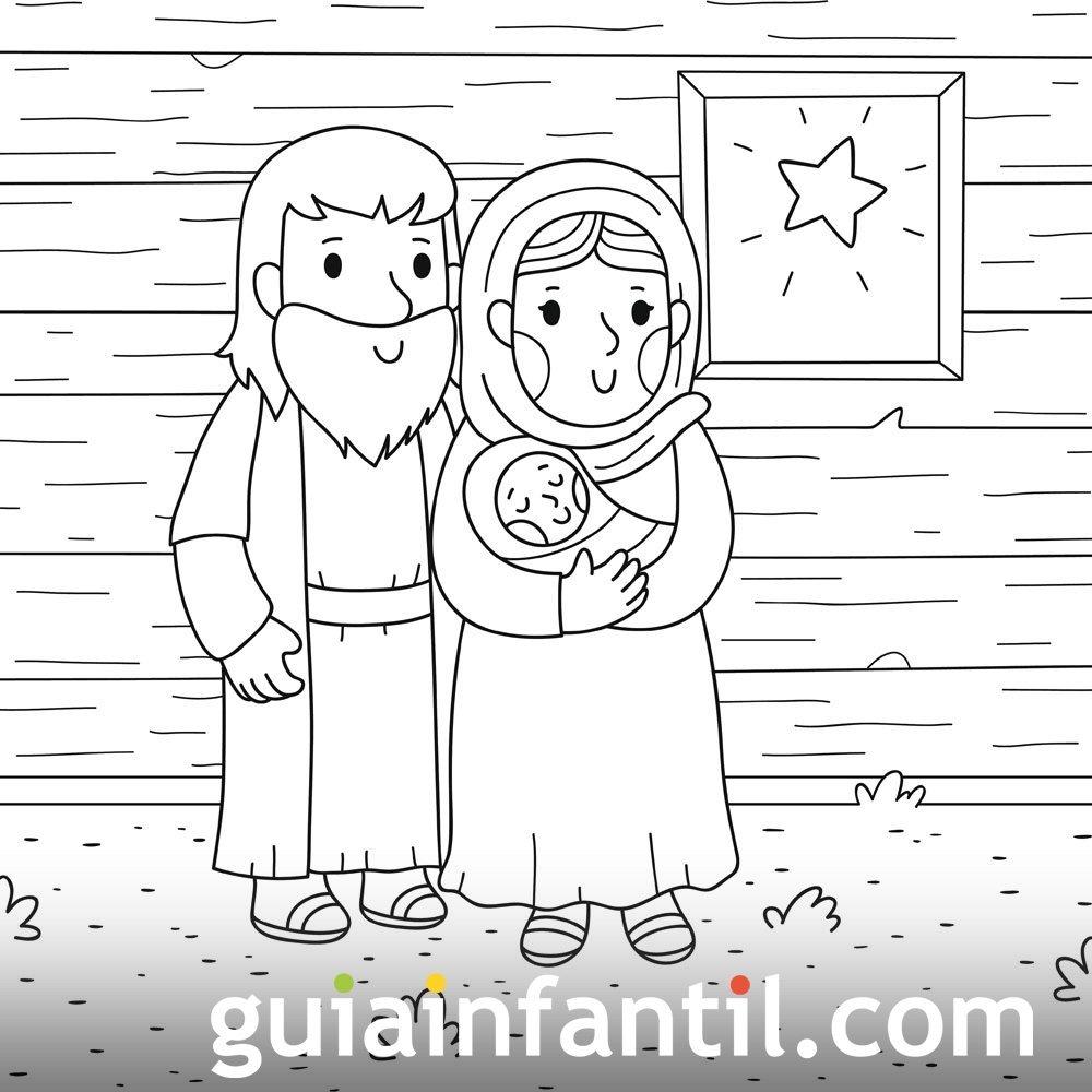 Dibujo De Navidad Portal De Belén Para Colorear