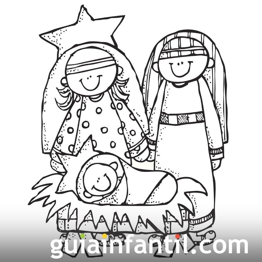 Portal de bel n dibujo navide o para pintar dibujos de - Dibujos navidenos para imprimir y colorear ...
