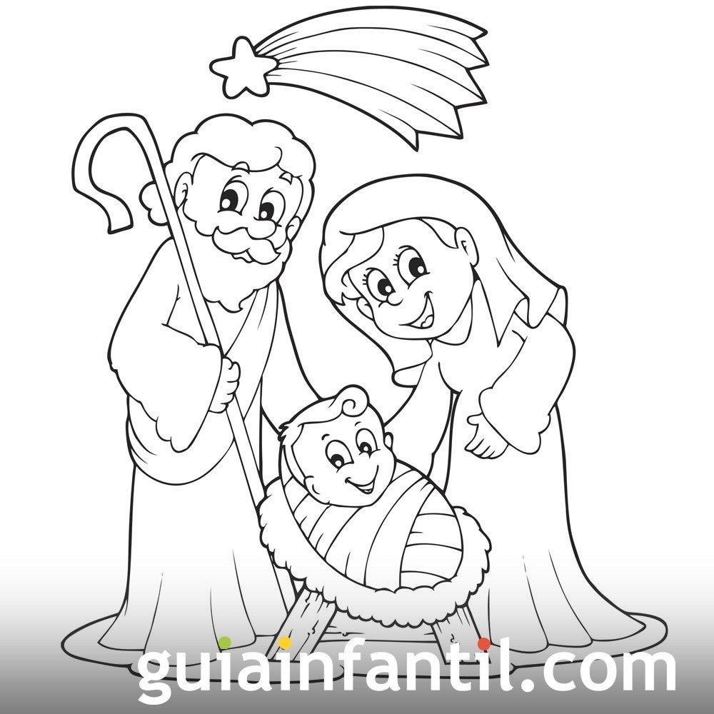 Imagenes De Belenes Para Imprimir.Dibujos De Belen De Navidad Para Imprimir Y Colorear Con Los