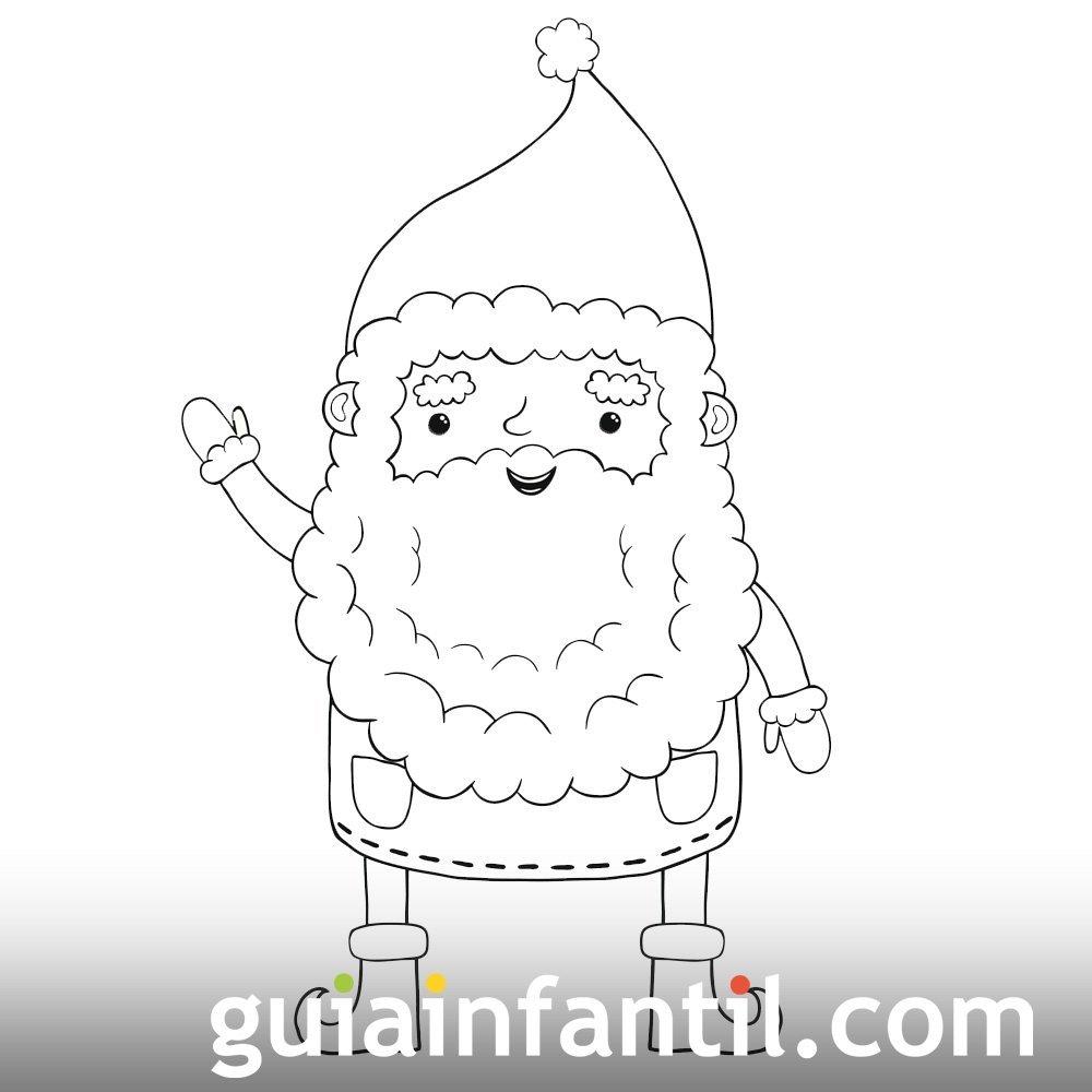 Dibujos de Navidad. Papá Noel saludando