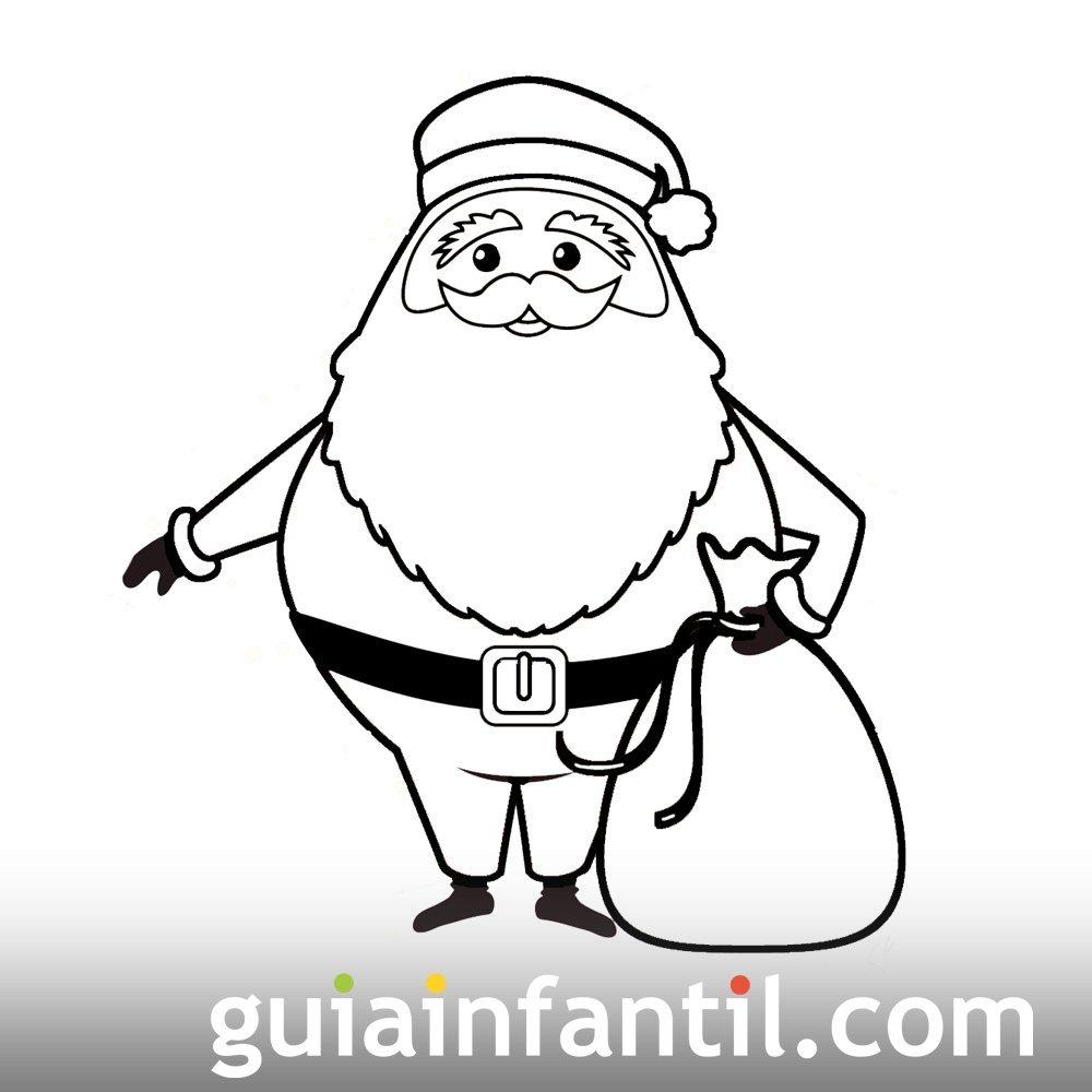 El saco de regalos de Papá Noel. Dibujo de Navidad