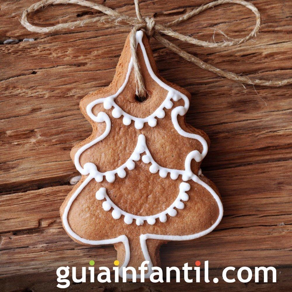 Galleta de árbol de Navidad para decorar con los niños
