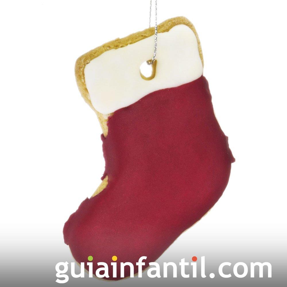 Bota de Papá Noel. Galletas para adornar el árbol de Navidad