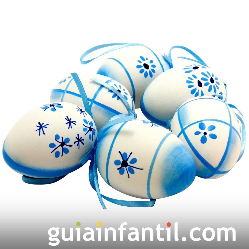 Decorar huevos de Pascua con rotuladores