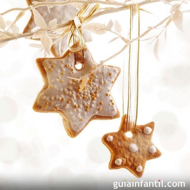 Galletas de estrella para decorar. Recetas de Navidad