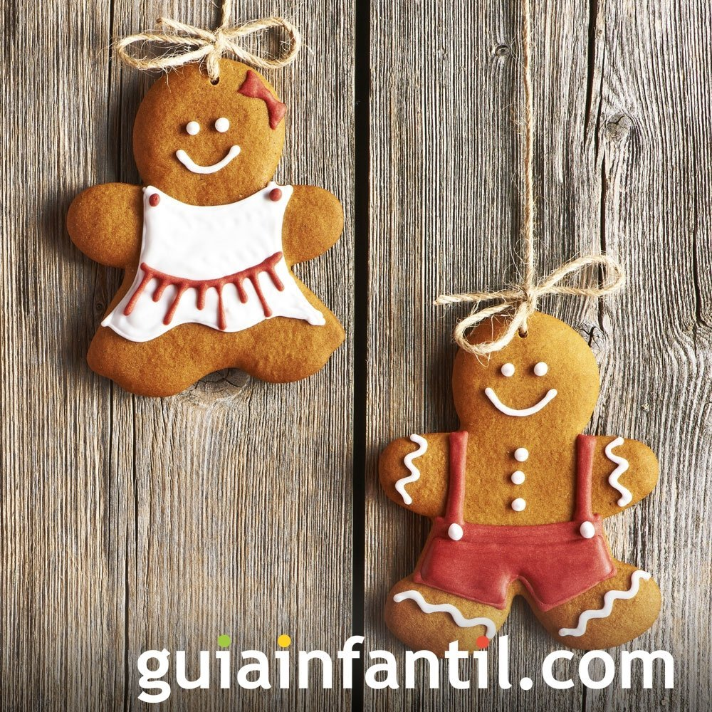 Hombres de galleta de jengibre decorados para Navidad