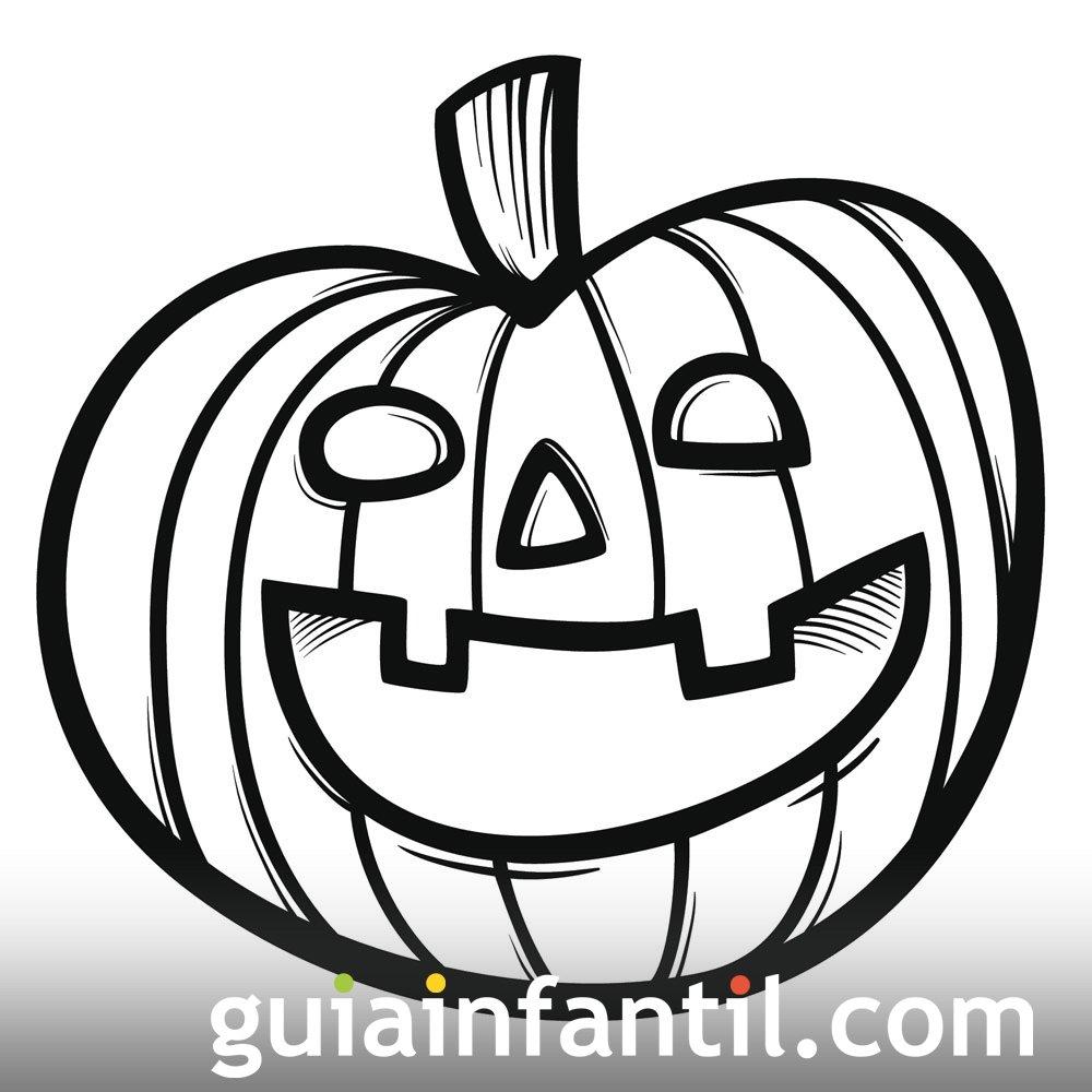 Calabaza para colorear. Dibujos de Halloween