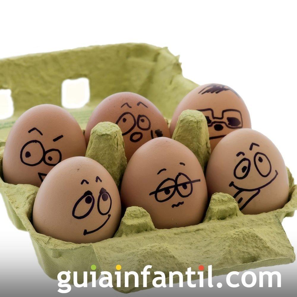 Decorar huevos de Pascua con caritas