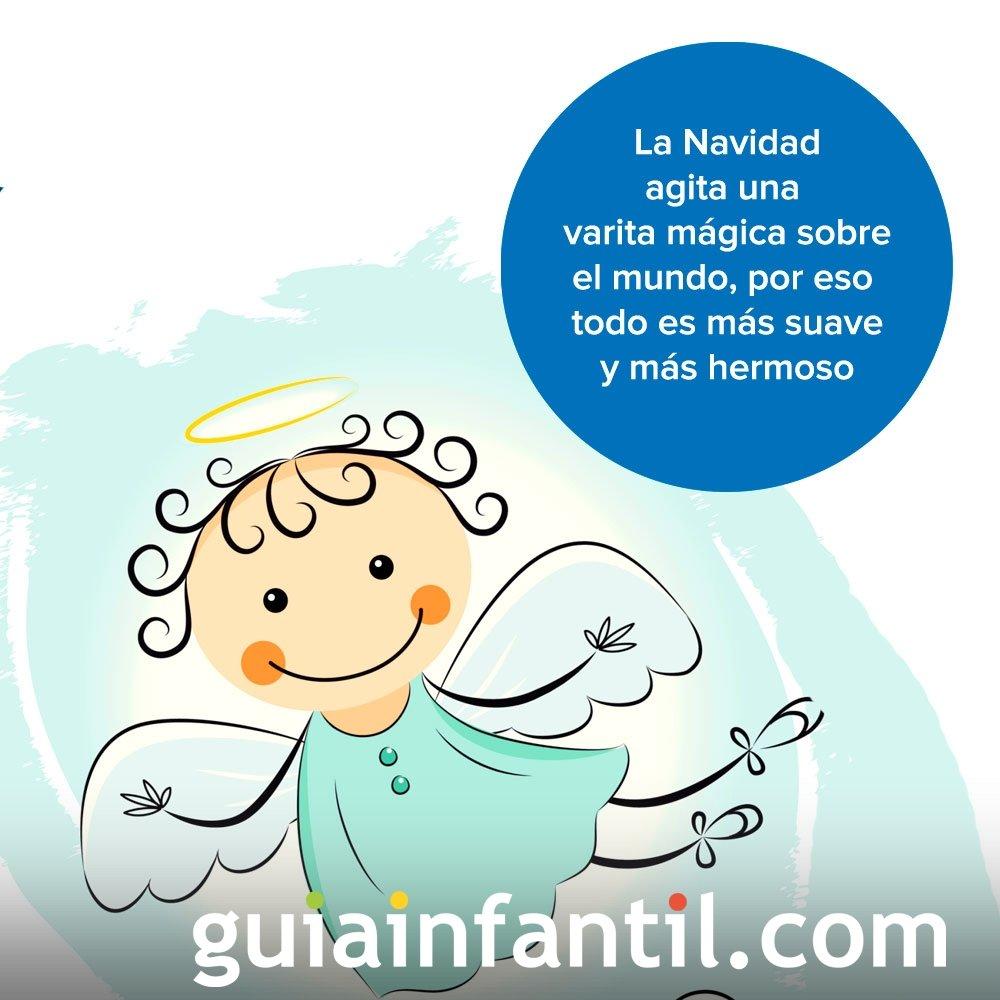Tarjeta navideña con dibujo de ángel
