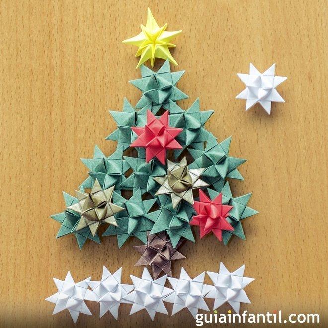 Utiliza cintas de regalo para crear un abeto de navidad for Cintas de navidad