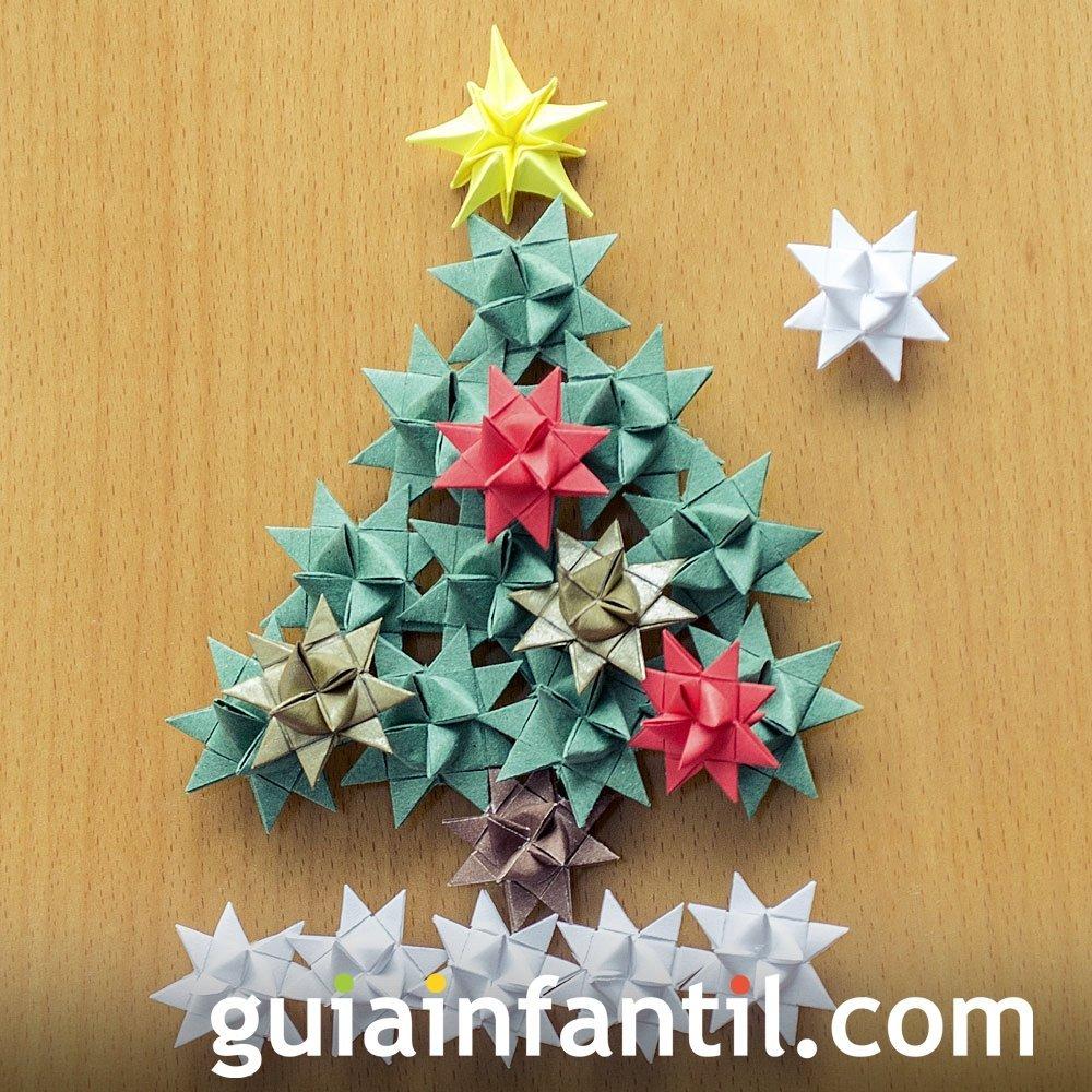 Utiliza cintas de regalo para crear un abeto de Navidad