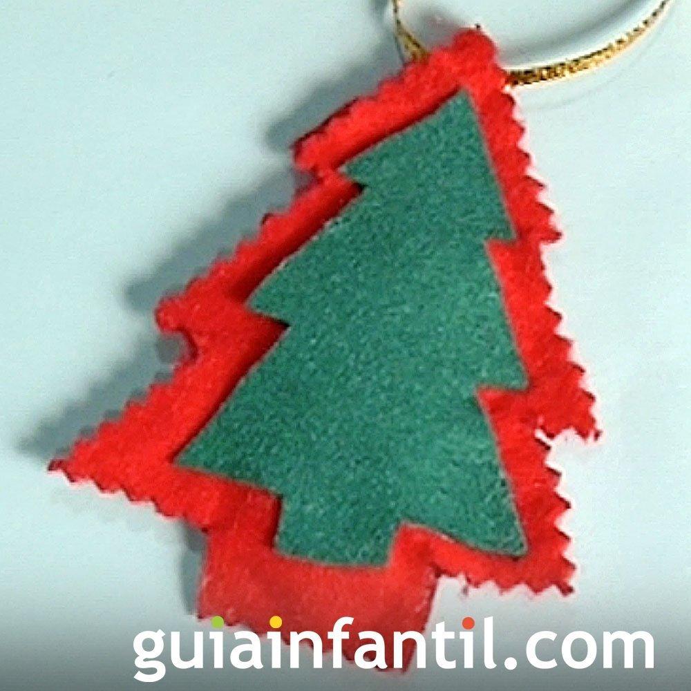 Árbol de fieltro para colgar del abeto de Navidad