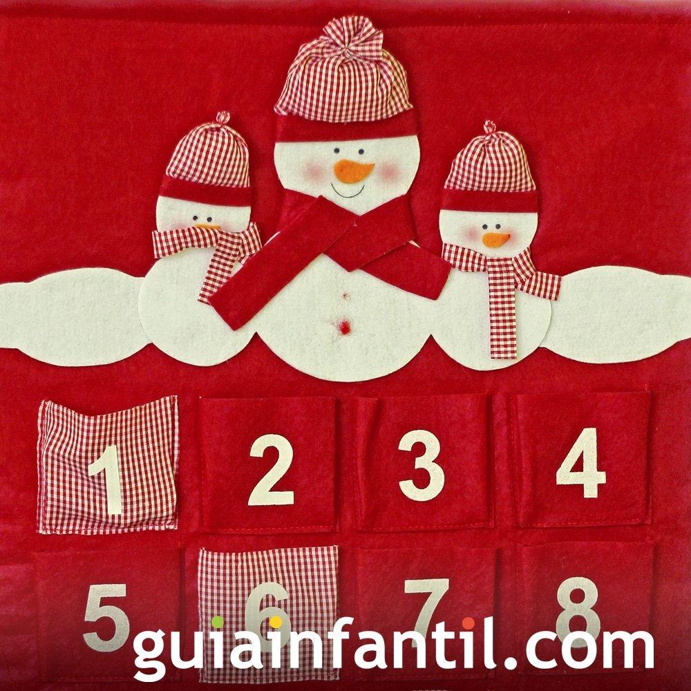 Calendario de Navidad con bolsillos