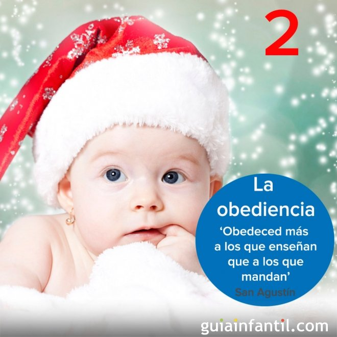 2- La obediencia en tu calendario de Adviento