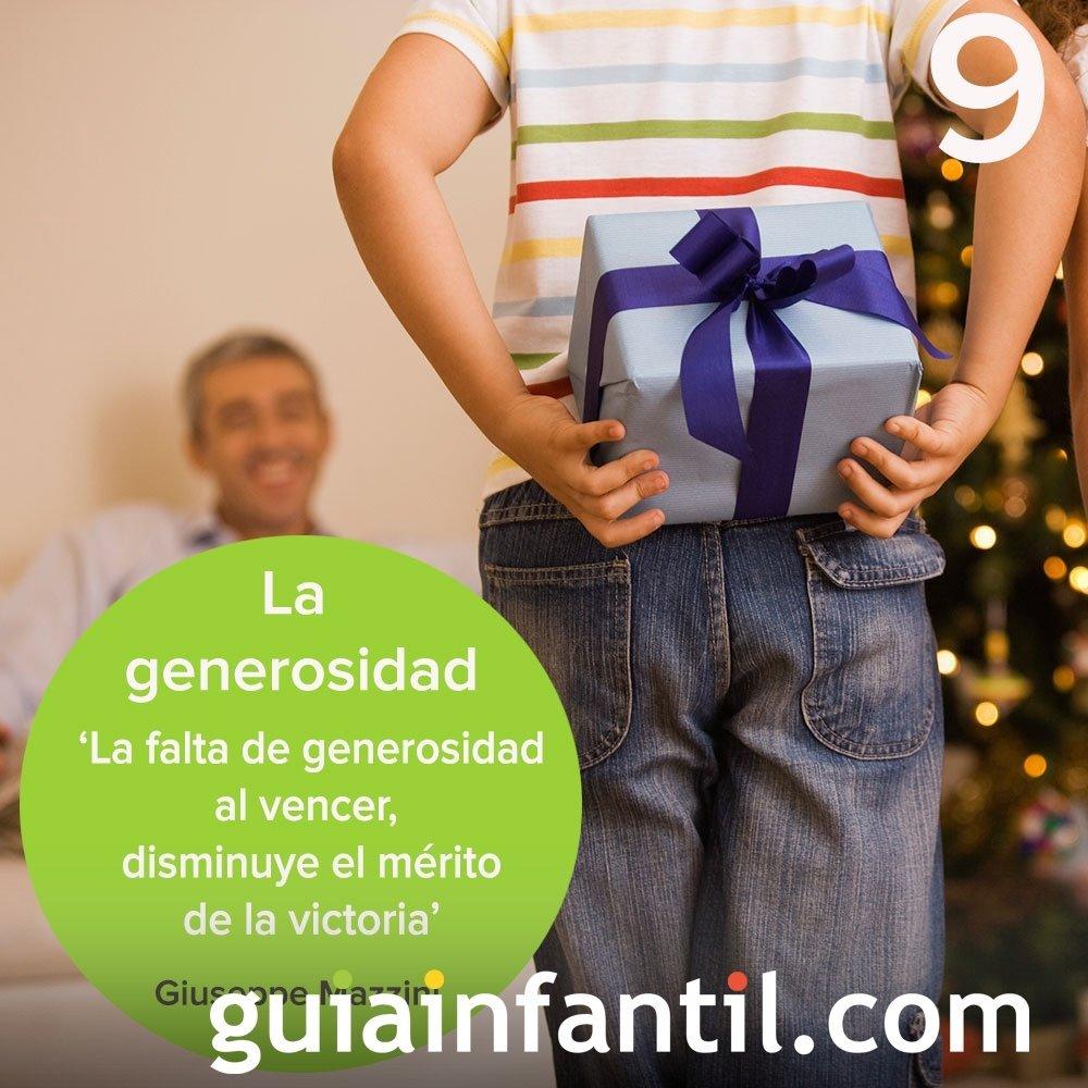 9- Enseña a tu hijo a ser generoso. Calendario de Adviento