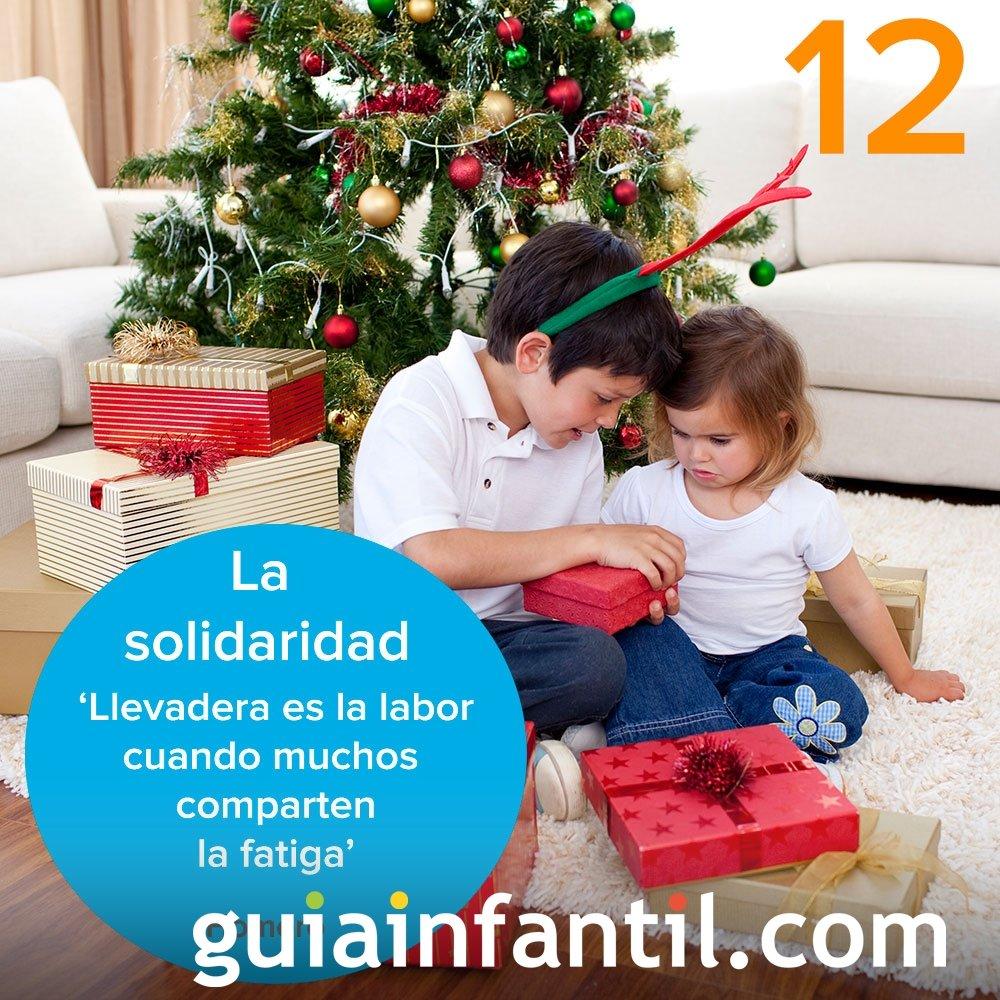 12- La solidaridad. Calendario de Adviento