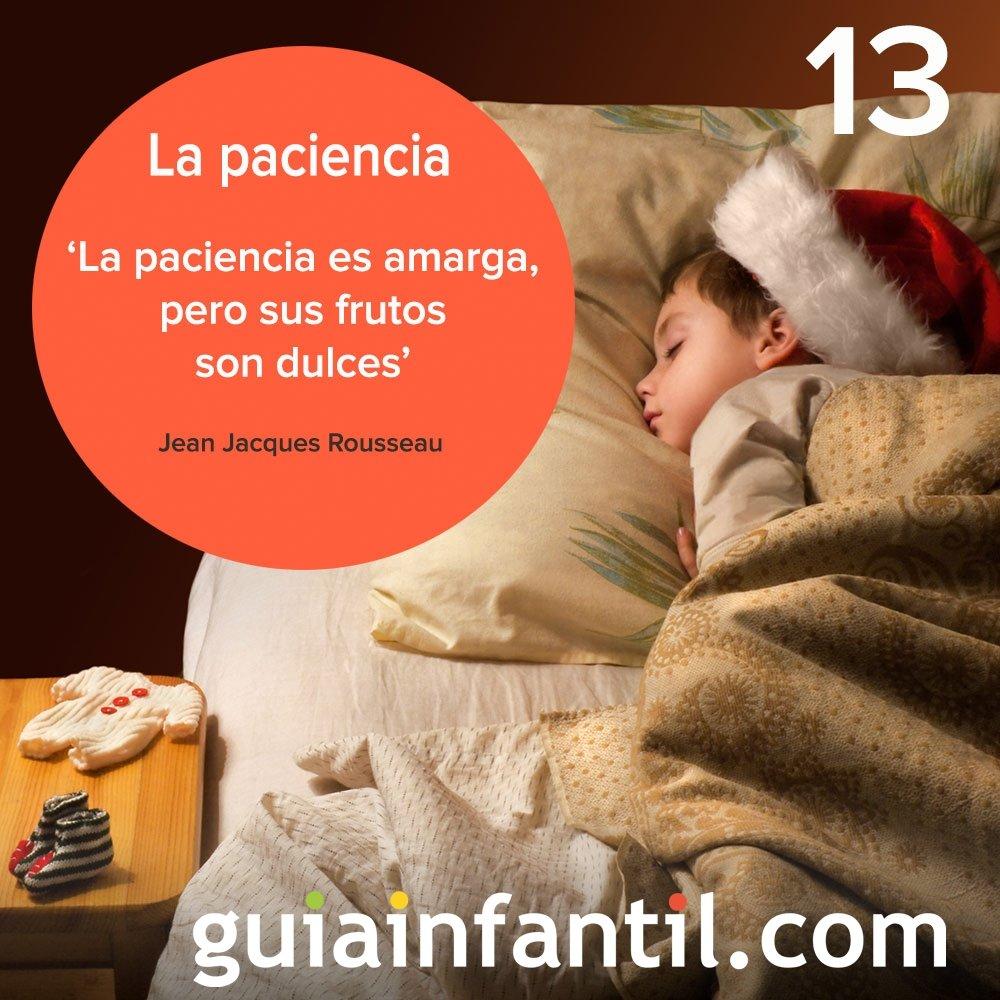 13- La paciencia, valor para tu calendario navideño