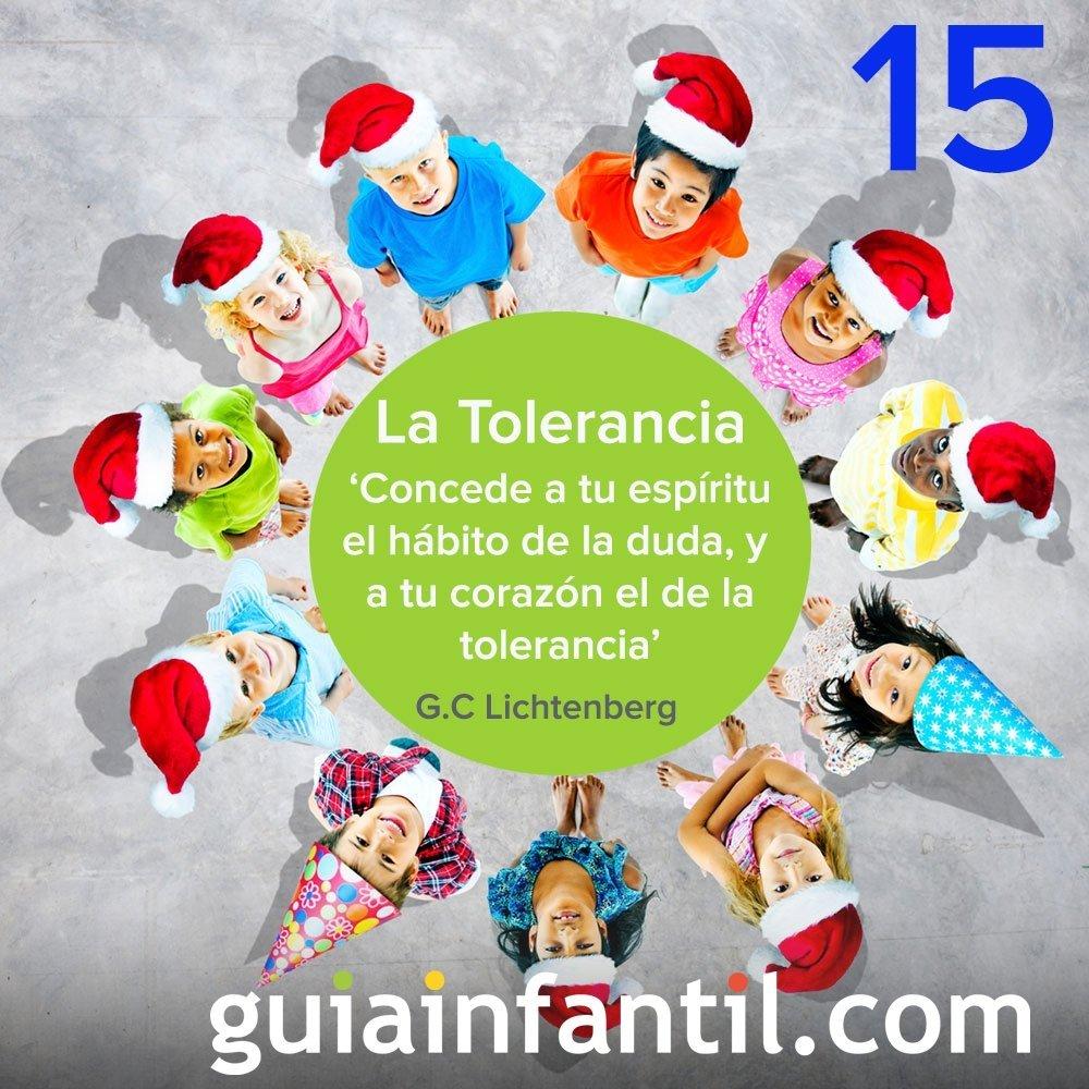 15- La Tolerancia. Calendario de Navidad