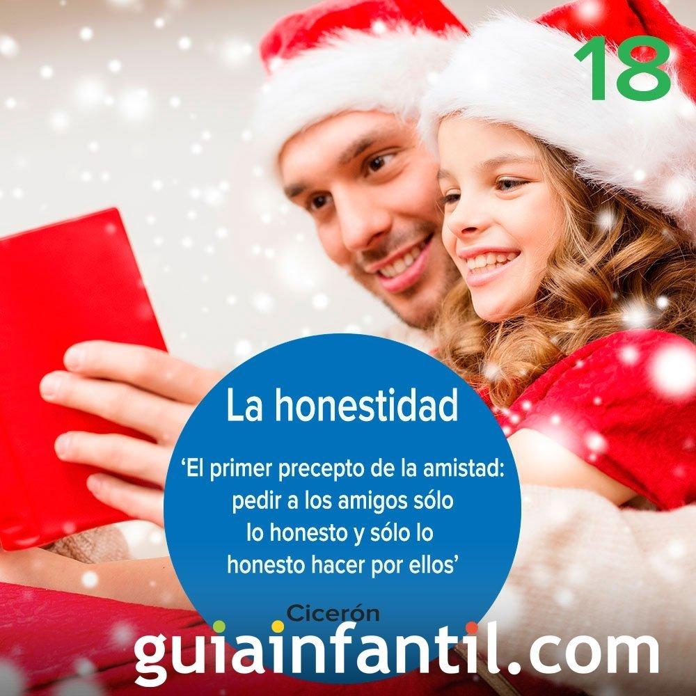 18- La honestidad. Calendario de Navidad
